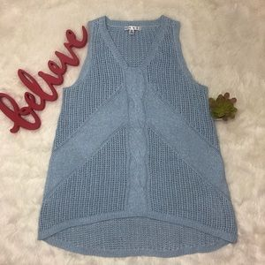Cabi baby blue knit top size M